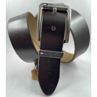 Мужской ремень джинсовый Exclusive TH40-055 темно-коричневый