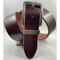 Мужской ремень джинсовый Exclusive TH40-056 коричневый
