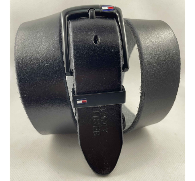 Мужской ремень джинсовый Exclusive TH40-058 черный