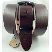 Мужской ремень джинсовый Exclusive TH40-059 коричневый