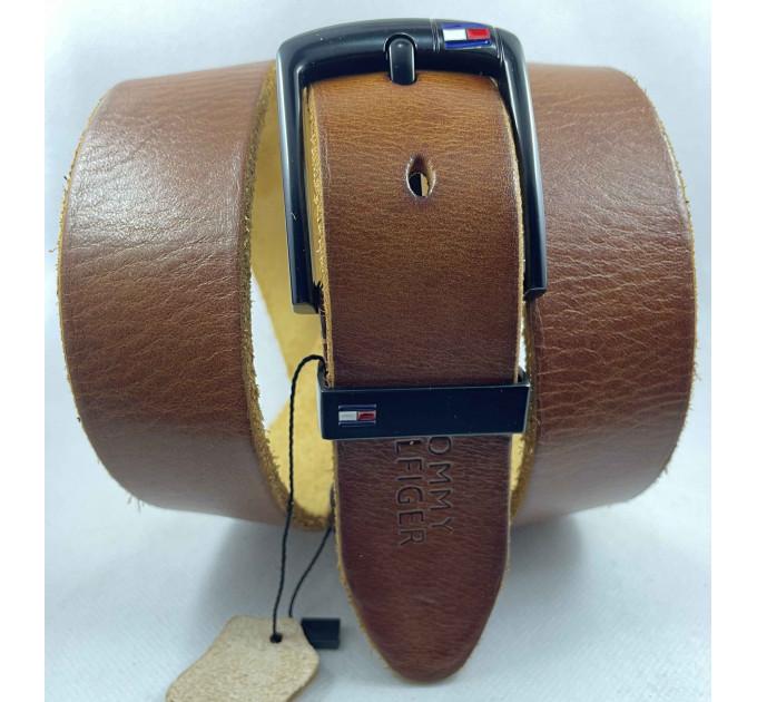 Мужской ремень джинсовый Exclusive TH40-060 рыжий