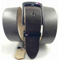 Мужской ремень джинсовый Exclusive TH40-061 темно-коричневый