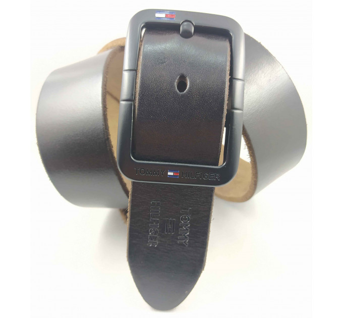 Мужской ремень джинсовый Exclusive TH40-044 темно-коричневый