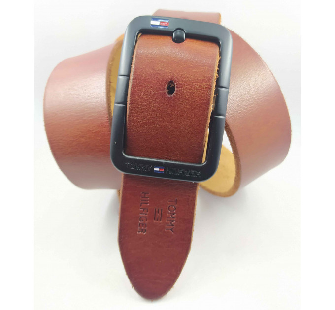 Мужской ремень джинсовый Exclusive TH40-046 коричневый