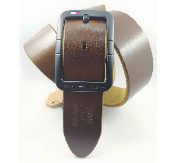 Мужской ремень джинсовый Exclusive TH40-047 коричневый