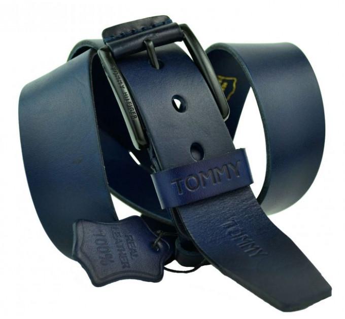 Мужской ремень джинсовый Exclusive TH40-001 синий