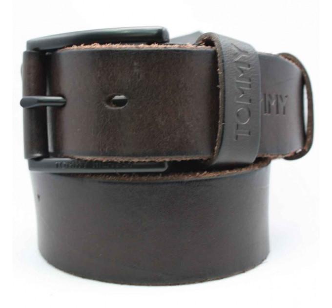 Мужской ремень джинсовый Exclusive TH40-003 коричневый