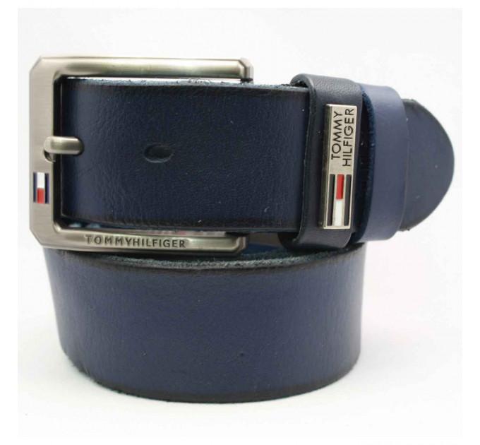 Мужской ремень джинсовый Exclusive TH40-005 синий