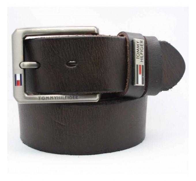 Мужской ремень джинсовый Exclusive TH40-006 коричневый