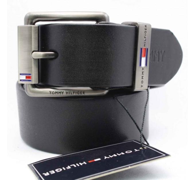 Мужской ремень джинсовый Exclusive TH40-007 черный