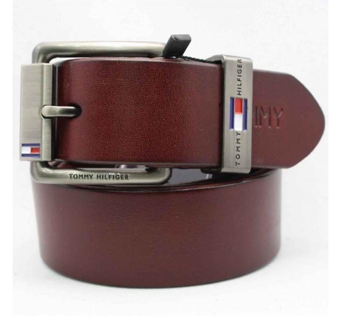 Мужской ремень джинсовый Exclusive TH40-008 коричневый