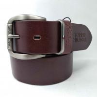 Мужской ремень джинсовый Exclusive TH40-011 коричневый