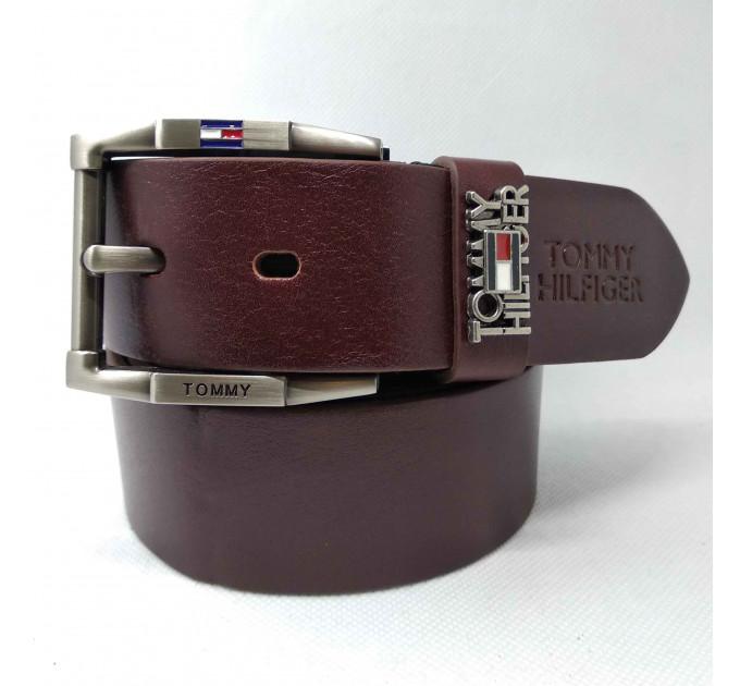 Мужской ремень джинсовый Exclusive TH40-014 коричневый