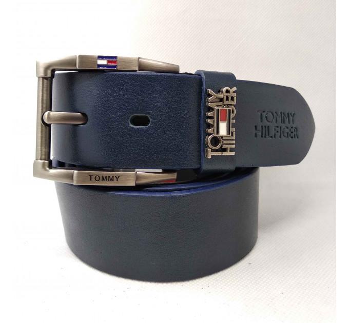 Мужской ремень джинсовый Exclusive TH40-015 синий