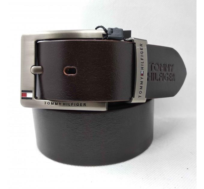 Мужской ремень джинсовый Exclusive TH40-020 коричневый