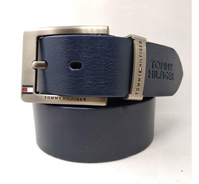 Мужской ремень джинсовый Exclusive TH40-021 синий