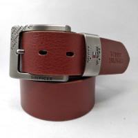 Мужской ремень джинсовый Exclusive TH40-025 коричневый