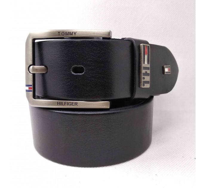 Мужской ремень джинсовый Exclusive TH40-027 черный