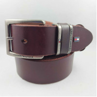 Мужской ремень джинсовый Exclusive TH40-035 коричневый