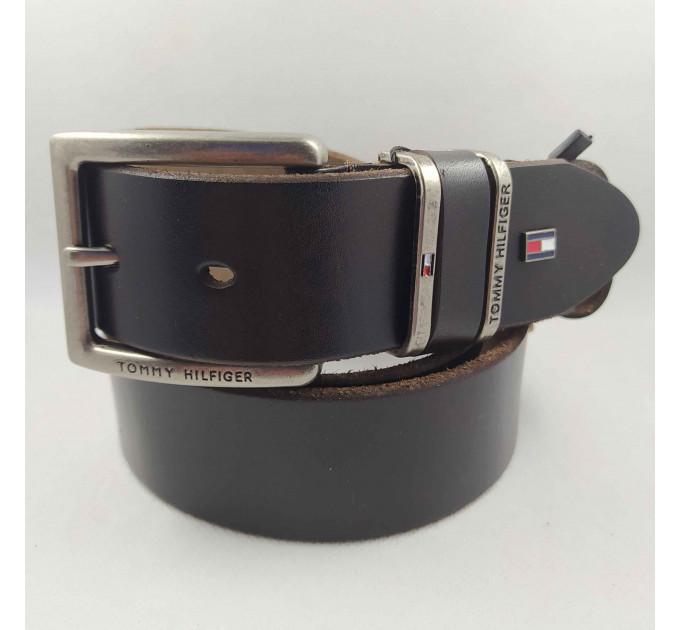Мужской ремень джинсовый Exclusive TH40-037 коричневый
