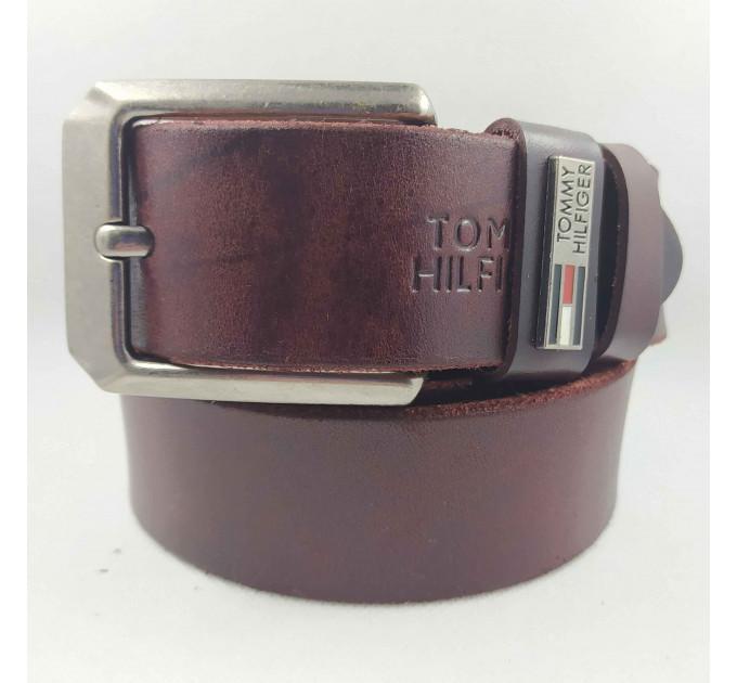 Мужской ремень джинсовый Exclusive TH40-038 коричневый
