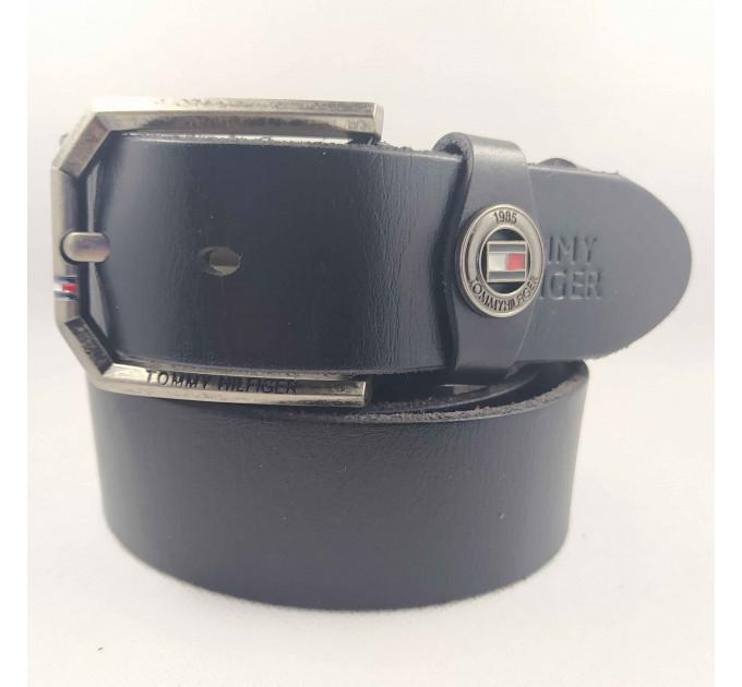 Мужской ремень джинсовый Exclusive TH40-042 черный