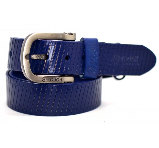 Мужской ремень джинсовый Exclusive tough40-002 синий