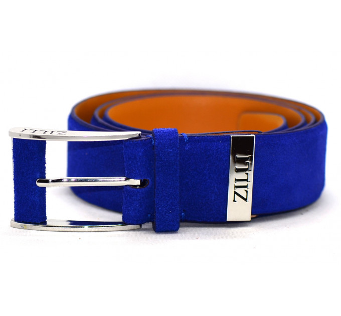Мужской ремень джинсовый Exclusive z40-001 синий