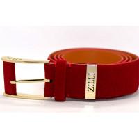 Мужской ремень джинсовый Exclusive z40-002 красный