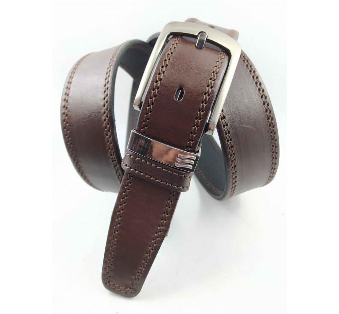 Мужской ремень классический OSCAR C35-081 коричневый