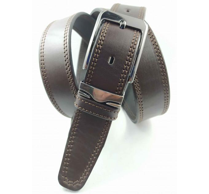 Мужской ремень классический OSCAR C35-082 коричневый