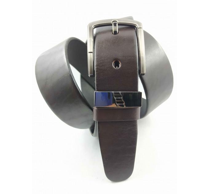 Мужской ремень джинсовый OSCAR С40-053 коричневый