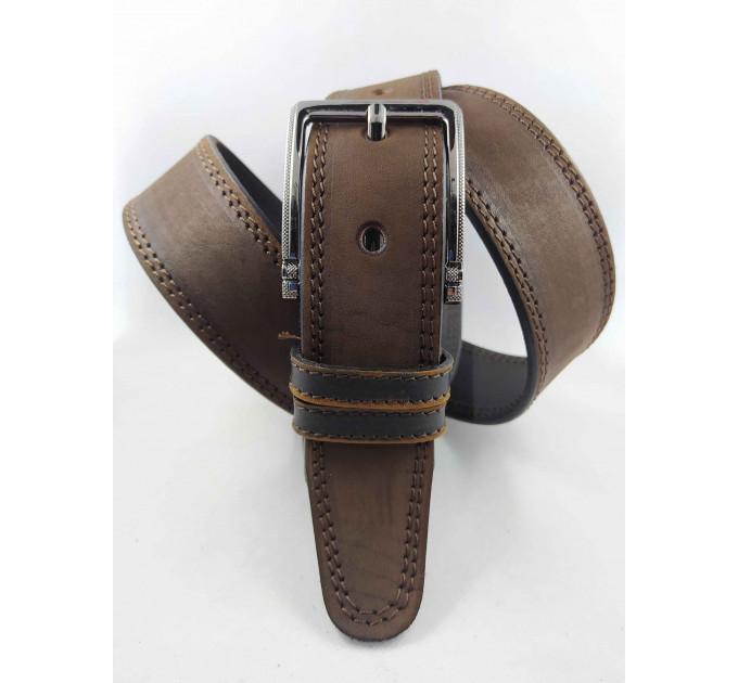 Мужской ремень джинсовый OSCAR С40-061 коричневый
