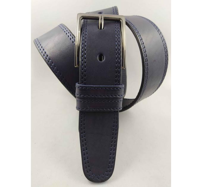 Мужской ремень джинсовый OSCAR С40-063 синий