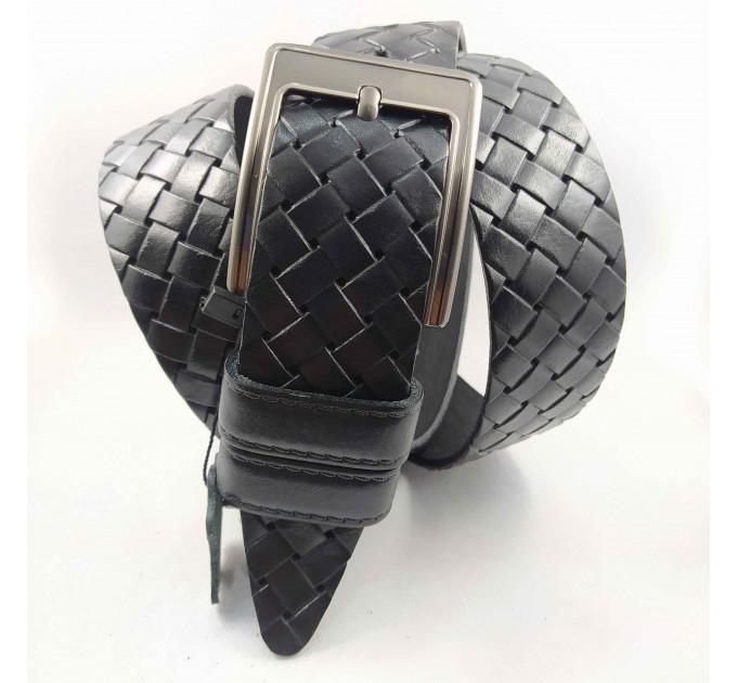 Мужской ремень джинсовый BELT PREMIUM C40-074 черный
