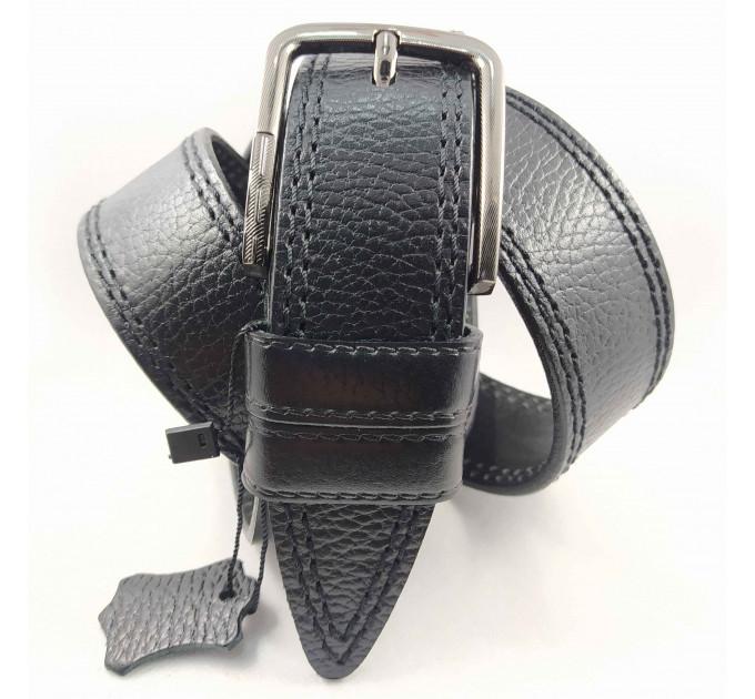 Мужской ремень джинсовый BELT PREMIUM C40-076 черный