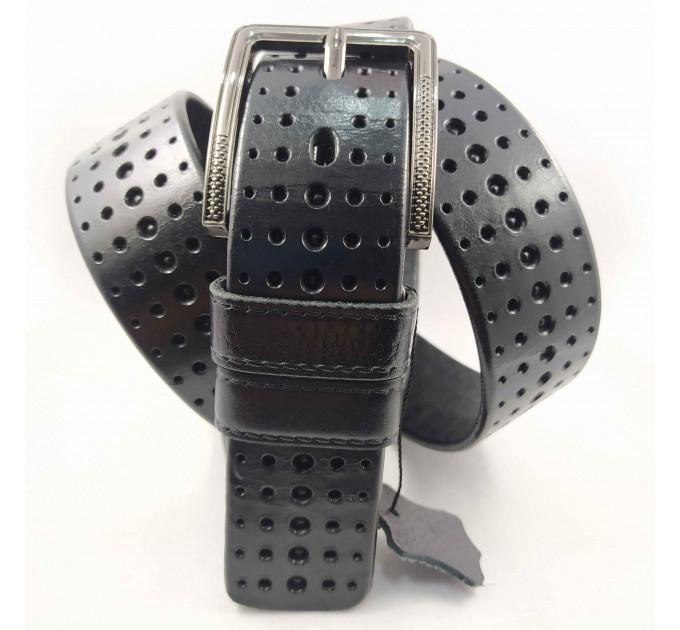 Мужской ремень джинсовый BELT PREMIUM C40-077 черный