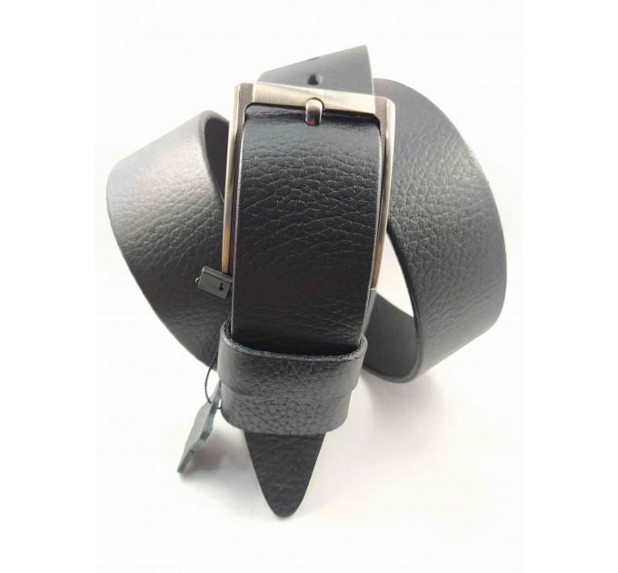 Мужской ремень джинсовый BELT PREMIUM C40-078 черный