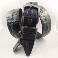 Мужской ремень джинсовый BELT PREMIUM C40-079 черный