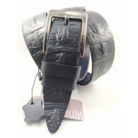Мужской ремень джинсовый BELT PREMIUM C40-082 темно-синий