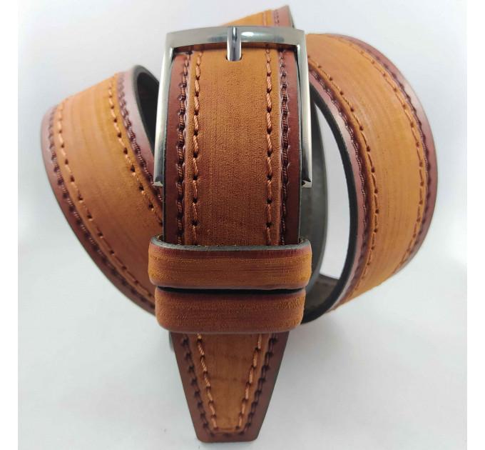 Мужской ремень джинсовый New Style C40-085 коричневый
