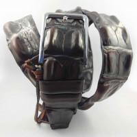 Мужской ремень джинсовый New Style C40-091 темно-коричневый
