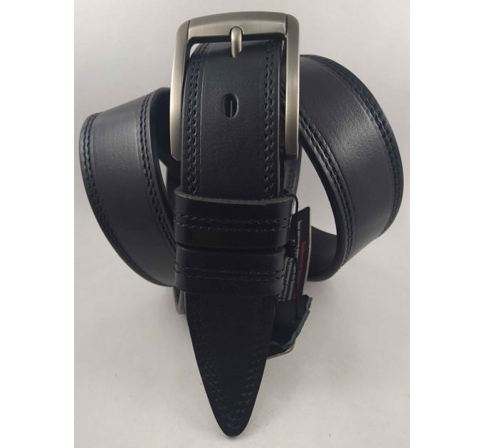 Мужской ремень джинсовый BELT PREMIUM C40-094 черный