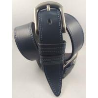 Мужской ремень джинсовый BELT PREMIUM C40-101 темно-синий