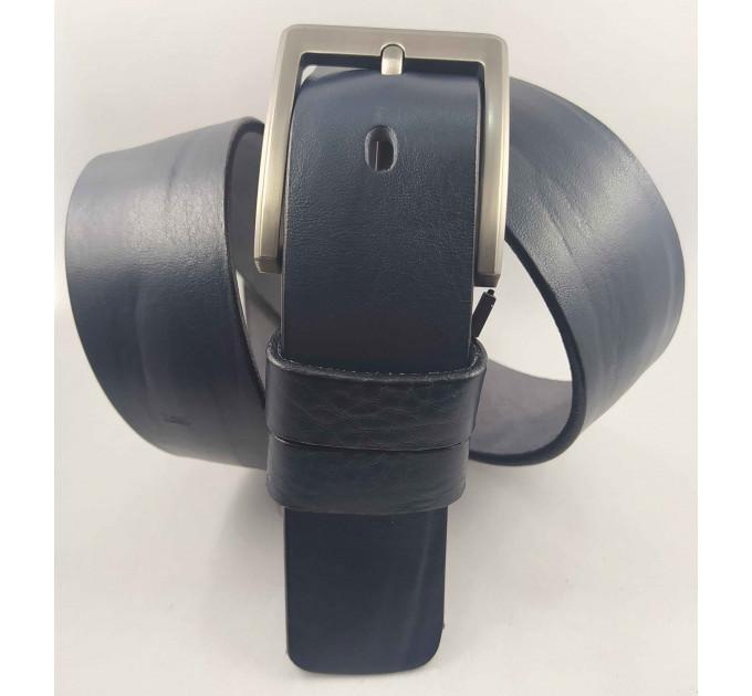 Мужской ремень джинсовый BELT PREMIUM C40-102 темно-синий