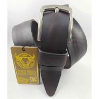 Мужской ремень джинсовый DNKA С40-104 темно-коричневый