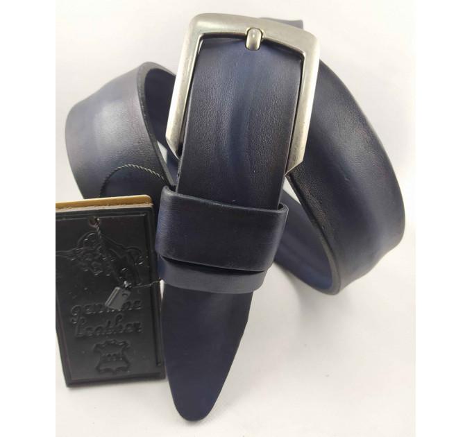 Мужской ремень джинсовый DNKA С40-106 темно-синий