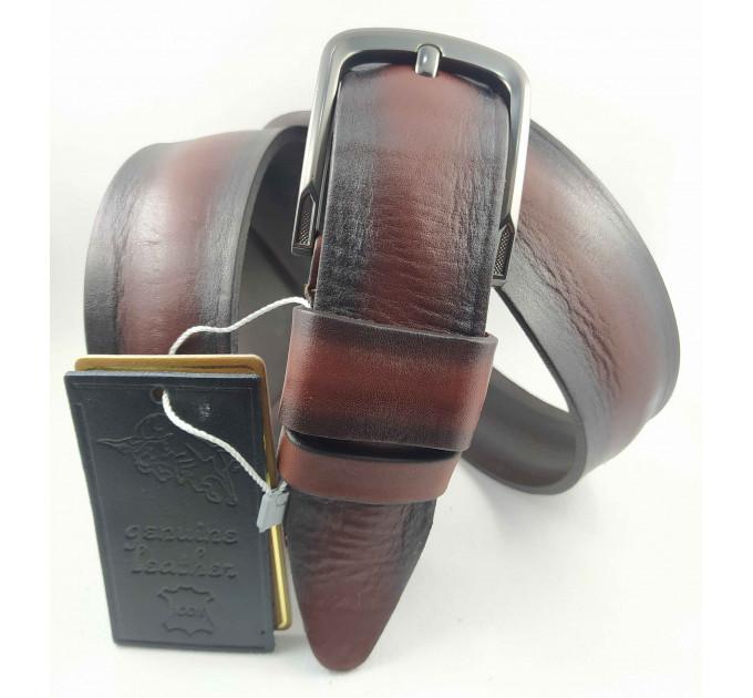 Мужской ремень джинсовый DNKA С40-107 коричневый