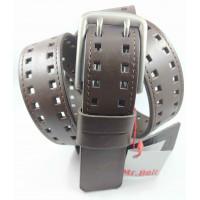 Мужской ремень джинсовый Mr.Belt C40-110 коричневый