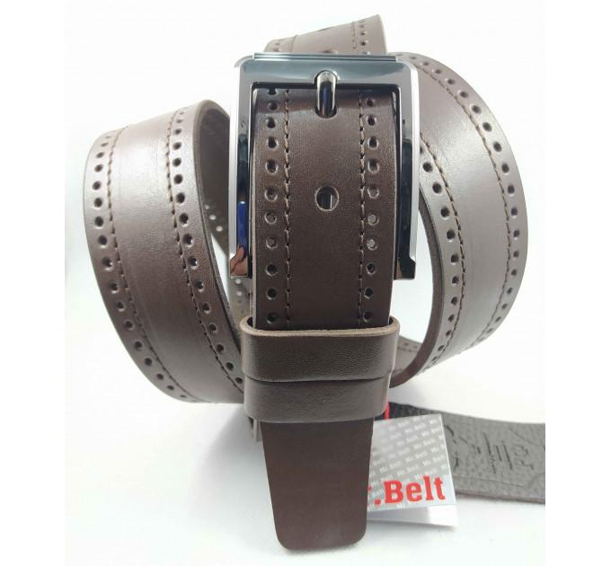 Мужской ремень джинсовый Mr.Belt C40-112 коричневый